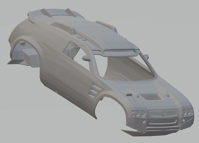 volkswagen tuareg dakar printable body car 3d model max fbx stl 1