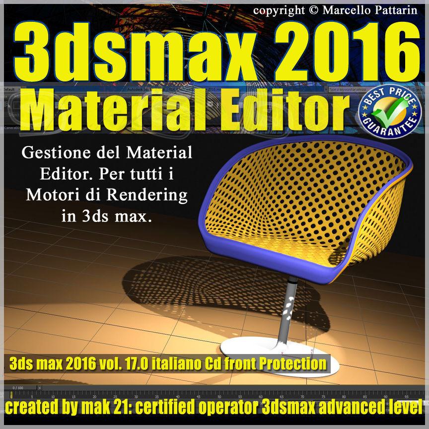 017 3ds max 2016 Material Editor Vol 17 Italiano cd front