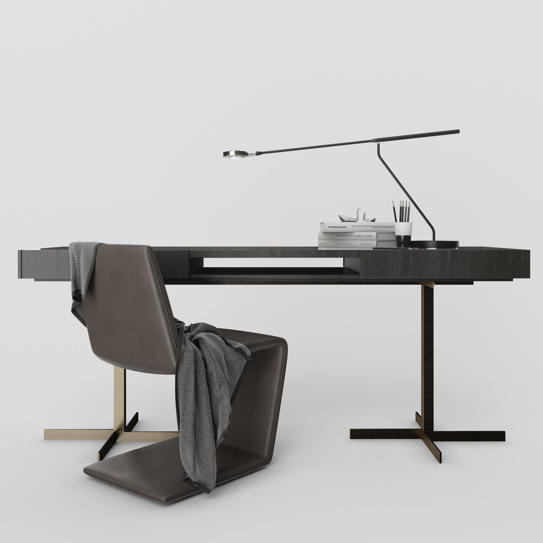 Minotti Phillips chair and Close Writing Desk