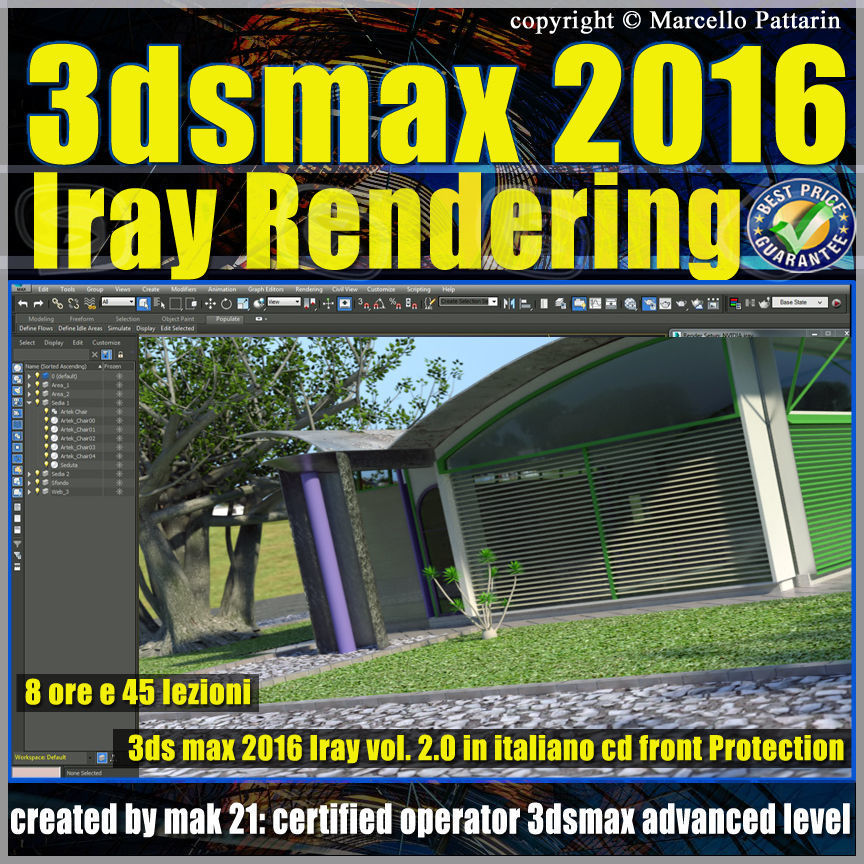 3ds max 2016 Iray Rendering vol 2 cd front