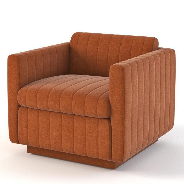Milo Baughman Art Deco Cube Club Lounge Chair
