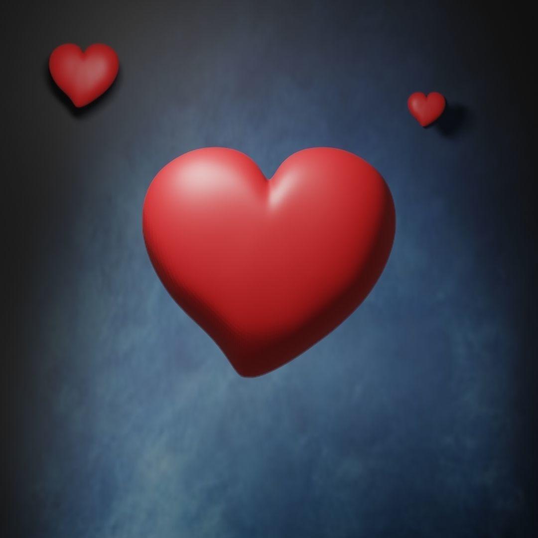 Simple Heart - stl and gltf | 3D Print Model