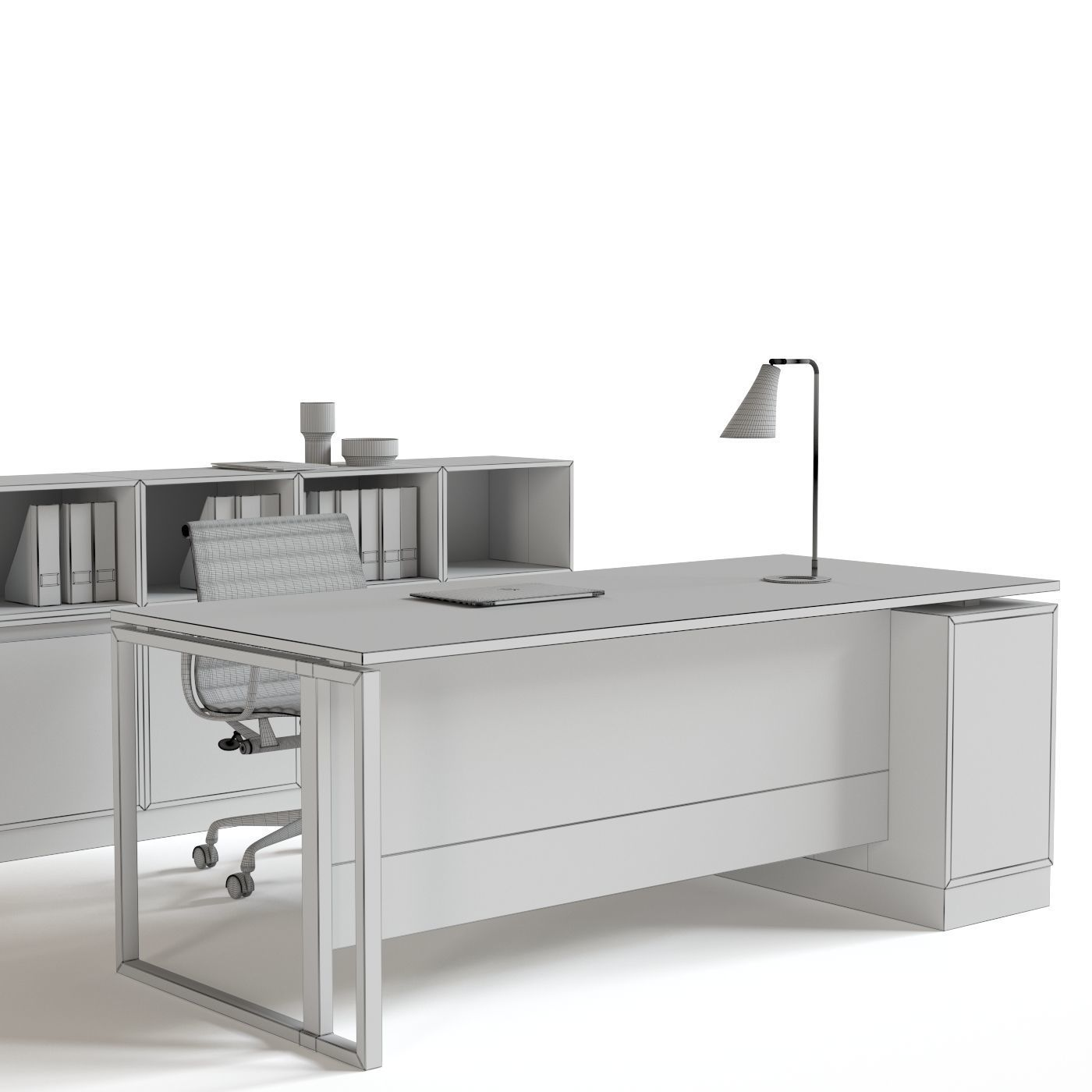 Office Reception Furniture Set Model Max Obj Mtl Fbx 9