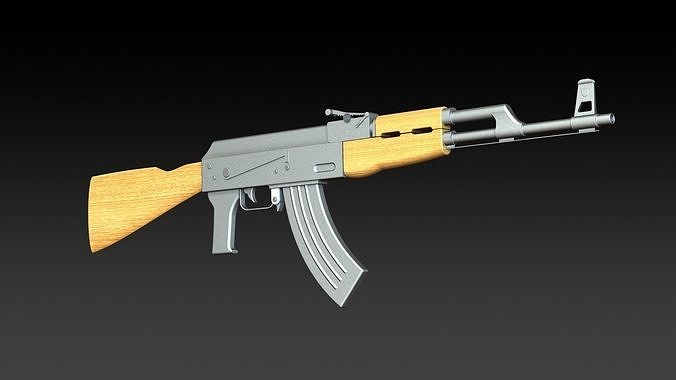 ak47 assault rifle  3d model stl sldprt sldasm slddrw ige igs iges CATProduct CATMaterial CATAnalysis 1