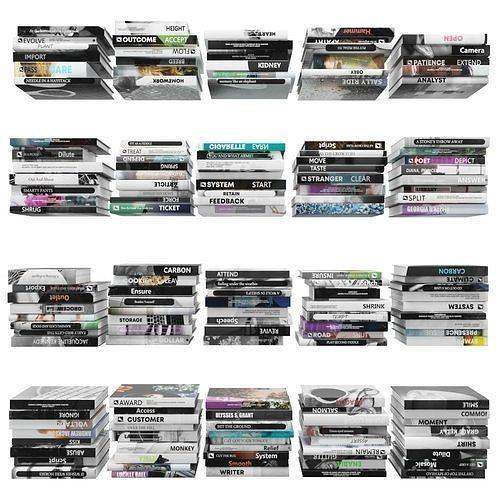 books 150 pieces 4-5-1 3d model max obj mtl fbx stl 1