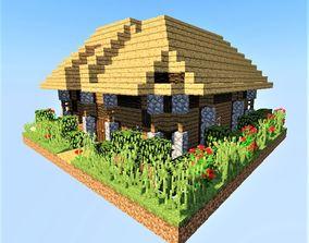 3D asset Medieval House Minecraft