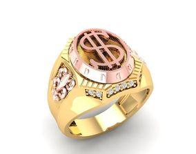 3D print model 1203 Diamond Ring with Dollar Symbol