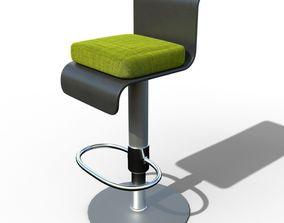 Kitchen chair 3D model metal