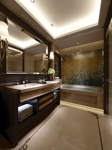 luxury bathroom 3d model max 1