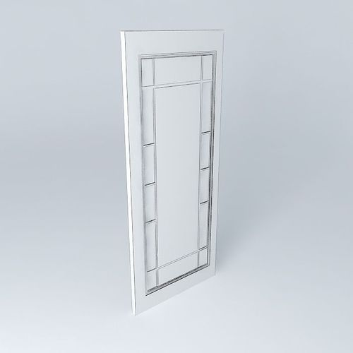 French Doors Craftsman Glassby Ray Bradley Free 3d Model