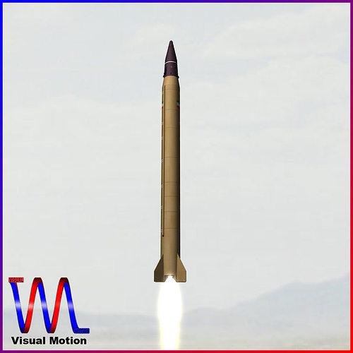 emad ballistic missile 3d model obj 3ds fbx dxf blend dae 1