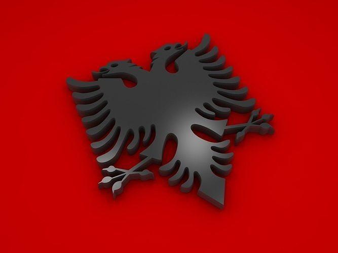 albanian eagle 3d model max obj mtl 3ds fbx stl dwg 1