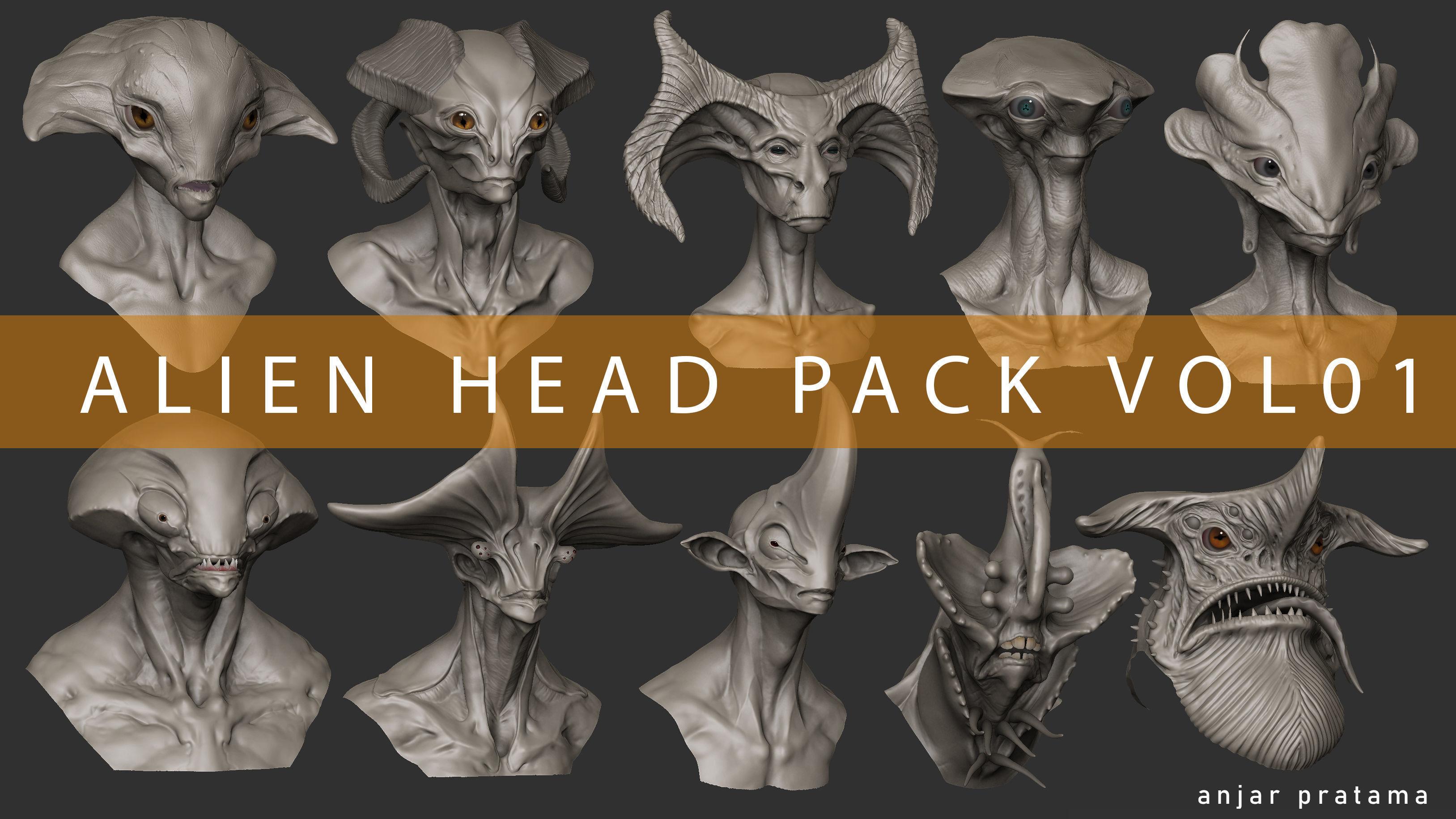Alien Head Pack Vol 01
