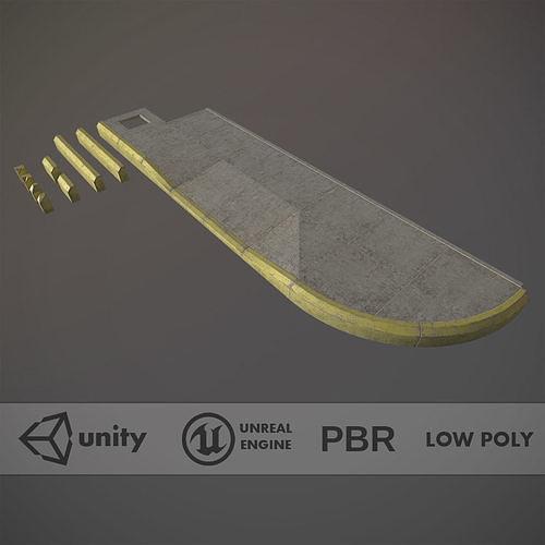 sidewalk - modular set 4 with yellow curb 3d model max obj mtl fbx tga tbscene tbmat 1
