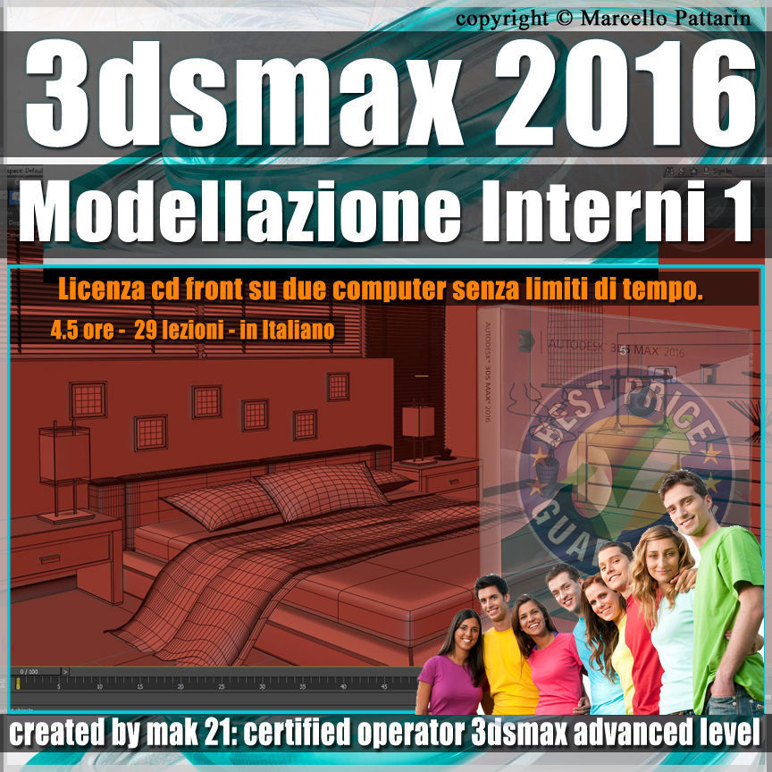 009 3ds max 2016 Modellazione Interni v 9 Italiano cd front