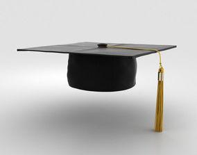 Graduation Cap 3D model mortarboard