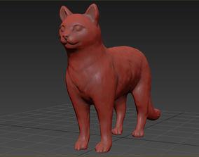realistic cat 3D print model
