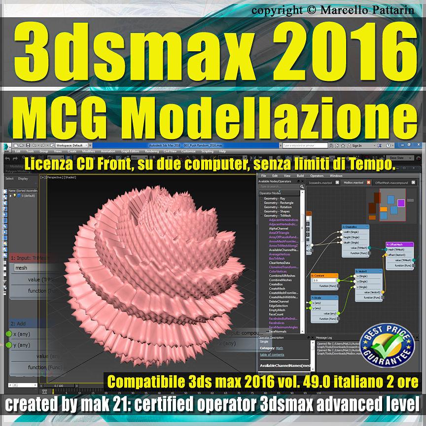 049 3ds max 2016 MCG Modellazione vol 49 CD front