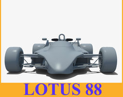 Lotus 88 racing Car 3D Model