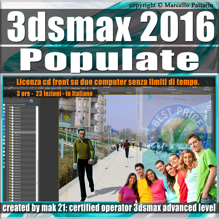 001 3ds max 2016 Populate vol 1 CD Fron