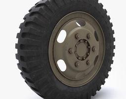 weel tire 1 3d model max obj 3ds fbx