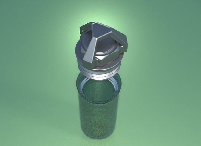 geocaching capsule design 1 3d model stl blend 1