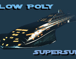 3D asset low-poly Low Poly Supersub