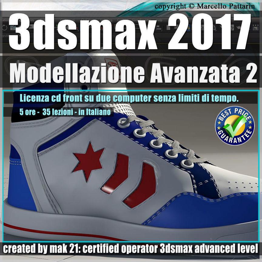 024 3ds max 2017 Modellazione Avanzata 2 v24 Italiano cd front