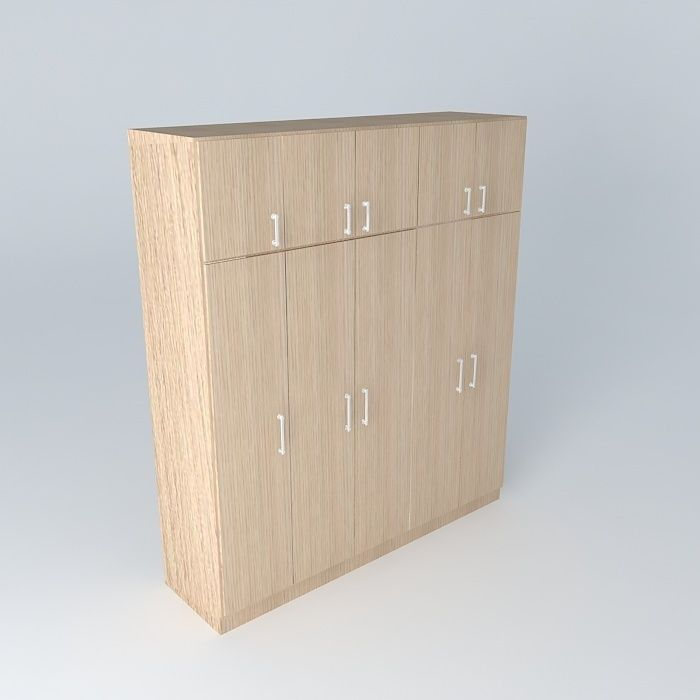 Closet doors 5 free 3d model max obj 3ds fbx stl dae for Disenar closet en 3d gratis