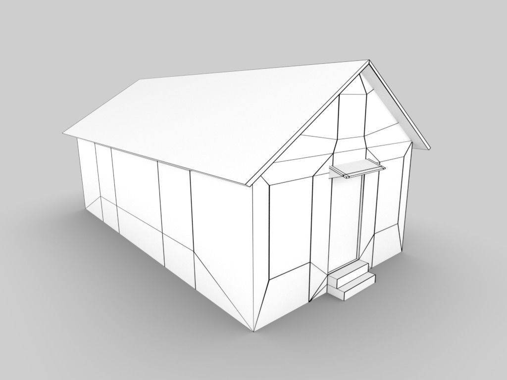 Abandoned Cottage House 3d model