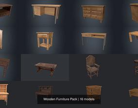 3D model Wooden Furniture Pack