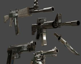 Military Weapons - Modern Weaponry - UVMapped 3D asset