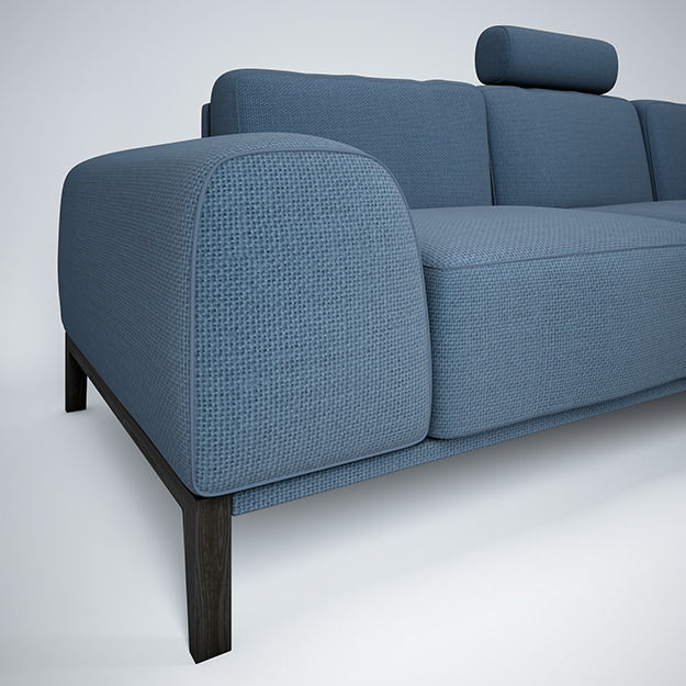 3d Model Sofa With Headrest By Trendmanufaktur Cgtrader