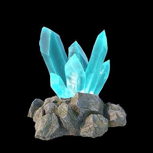 magic crystals 3d model max obj mtl fbx 1