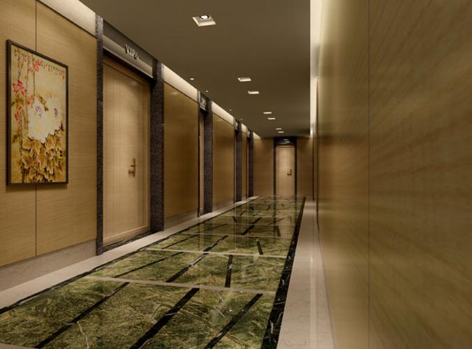 Hotel corridor 3D model | CGTrader