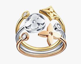 Louis Vuitton Monogram Idylle Jewellery Mag 3D print model