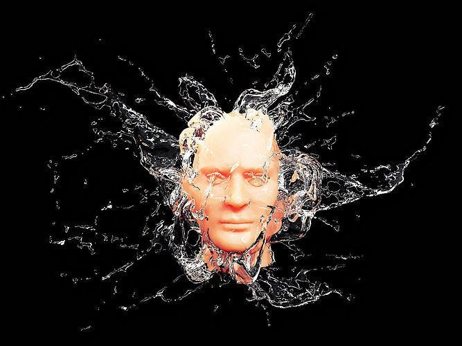 splash face 3d model max obj mtl fbx stl 1