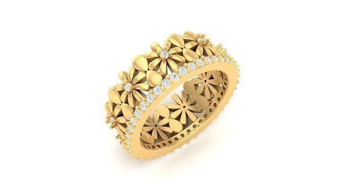 r 31 flower ring 3d model stl 3dm 1