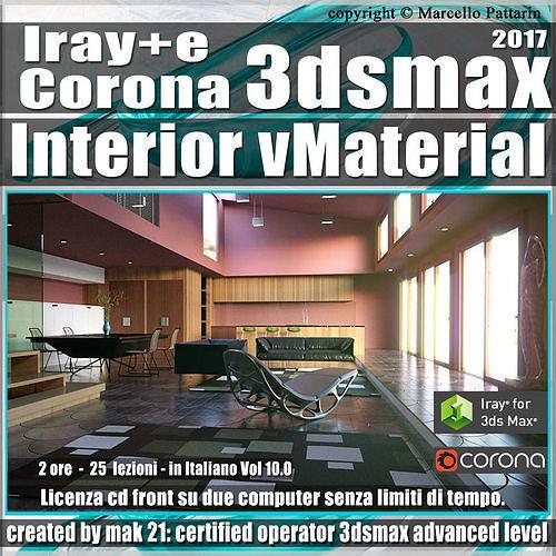 Iray piu e Corona in 3dsmax 2017 Interior Vol 10 Cd Front