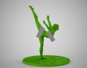 3D printable model Ballerina with Ground