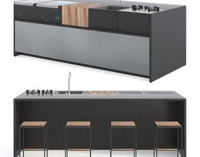 3D model Roshults Outdoor Kitchen Set 01