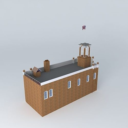 stn 3  st paul mn  historic 1872 fire station 3 3d model max obj mtl 3ds fbx stl dae 1