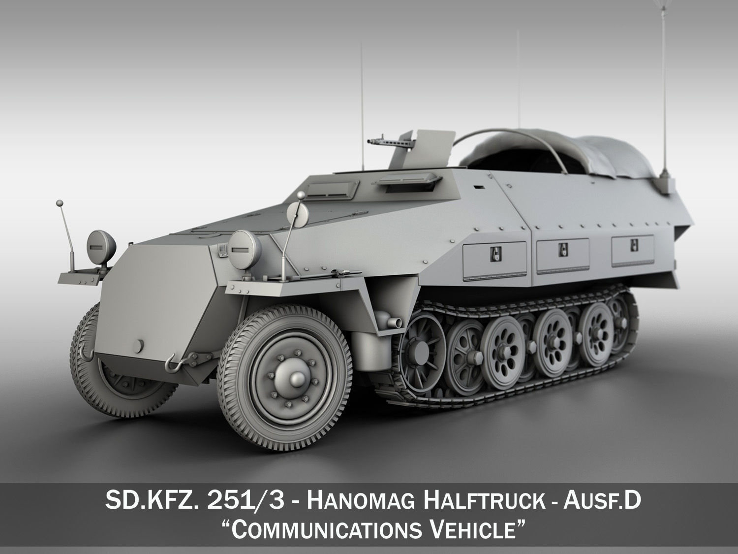 SDKFZ 251 Ausf D - Communications Vehicle