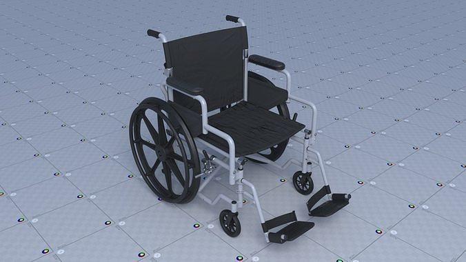 wheel chair 3d model obj mtl fbx ma mb blend 1