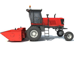 Swather Windrower Combine 3D model