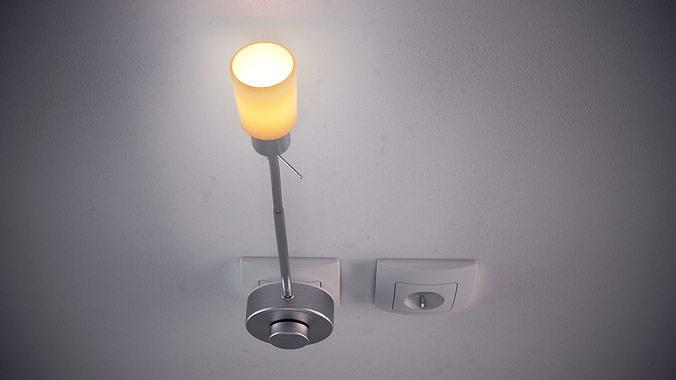 wall lamp 3d model obj mtl fbx stl 3dm mat 1