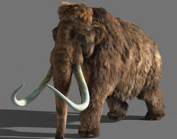 animated mammoth 3d