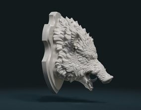 3D print model Wild Boar Mounted Head
