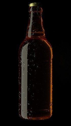beer bottle condensation 3d model obj mtl fbx c4d stl 1
