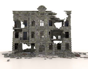 3D asset RUINED BUILDING POST APOCALYPSE WAR